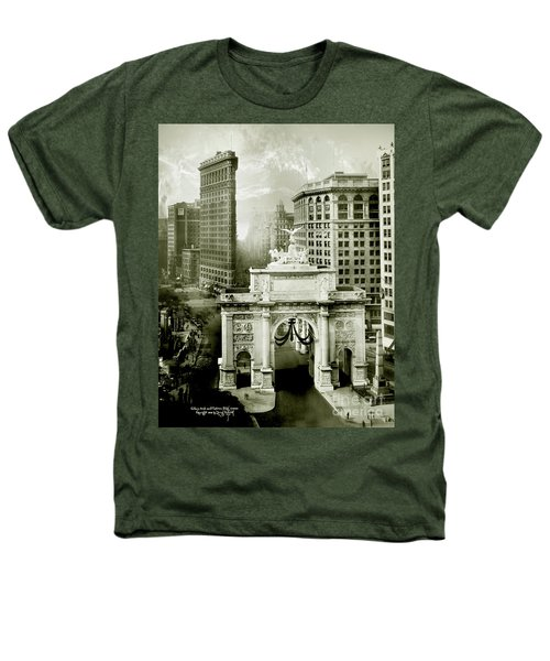 1919 Flatiron Building With The Victory Arch Heathers T-Shirt