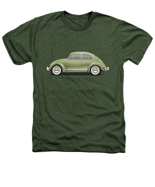 1957 Volkswagen Deluxe Sedan - Diamond Green Heathers T-Shirt by Ed Jackson