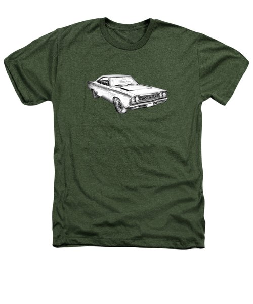 1968 Plymouth Roadrunner Muscle Car Illustration Heathers T-Shirt