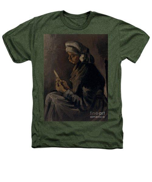 The Potato Peeler, 1885 Heathers T-Shirt by Vincent Van Gogh