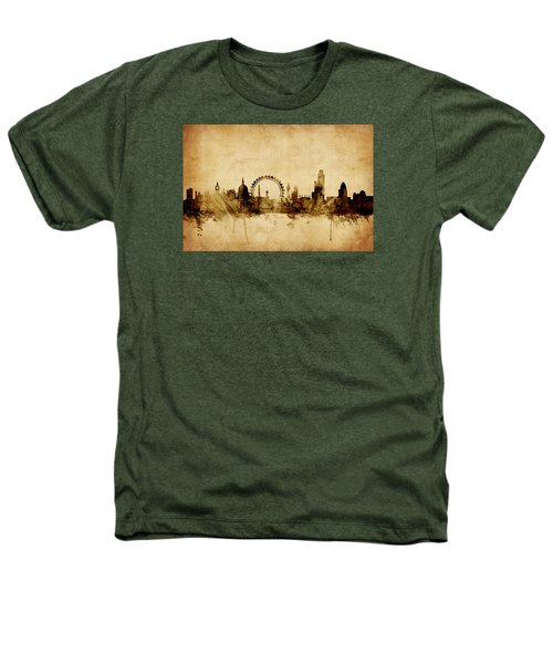 London England Skyline Heathers T-Shirt by Michael Tompsett