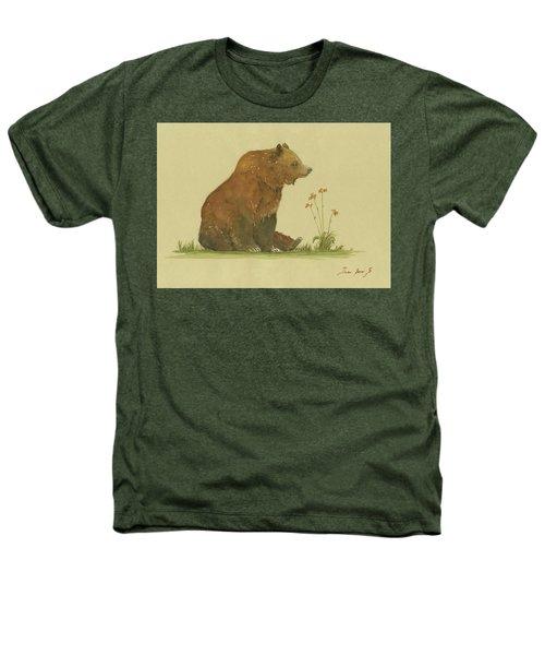 Alaskan Grizzly Bear Heathers T-Shirt