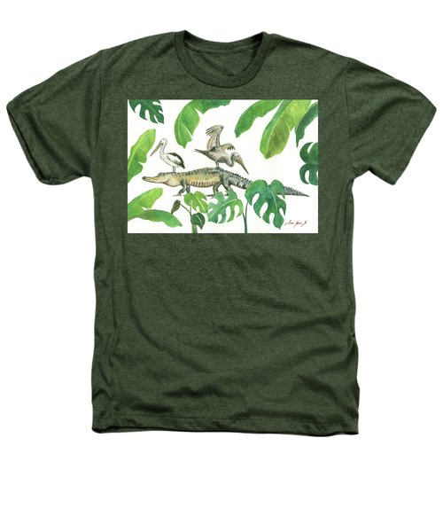 Alligator And Pelicans Heathers T-Shirt