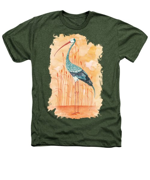 An Exotic Stork Heathers T-Shirt by Timmy Timone
