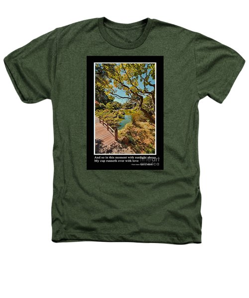 And So In This Moment With Sunlight Above Heathers T-Shirt by Jim Fitzpatrick