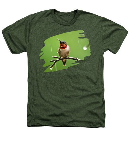 Another Rainy Day Hummingbird Heathers T-Shirt by Christina Rollo