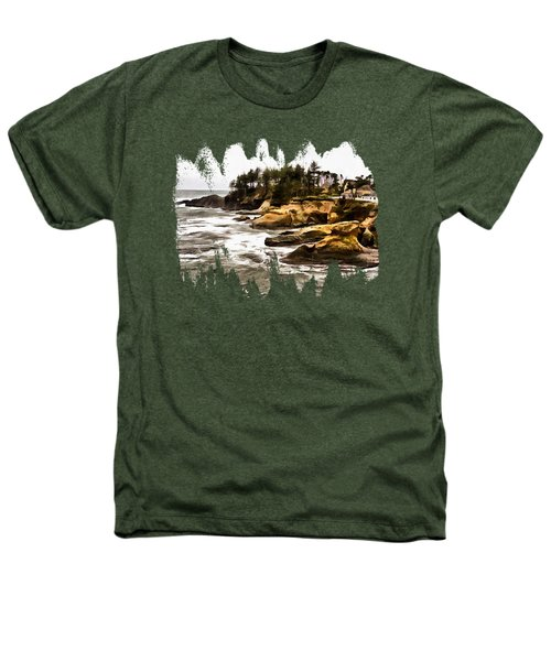 Arch Rock Depoe Bay Heathers T-Shirt by Thom Zehrfeld