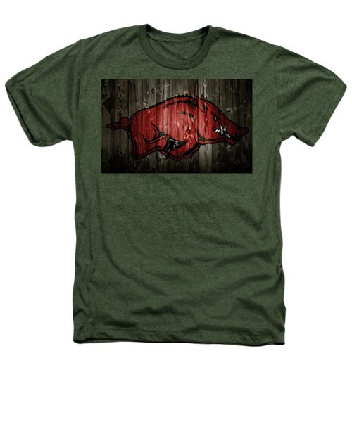 Arkansas Razorbacks 2b Heathers T-Shirt by Brian Reaves