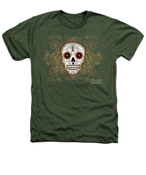 Vintage Sugar Skull Heathers T-Shirt by Tammy Wetzel