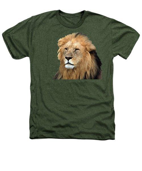 Masai Mara Lion Portrait    Heathers T-Shirt by Aidan Moran