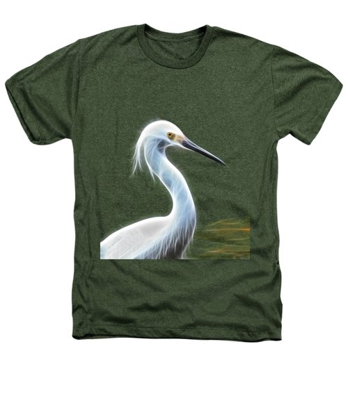 Snow Egret Heathers T-Shirt by Shane Bechler