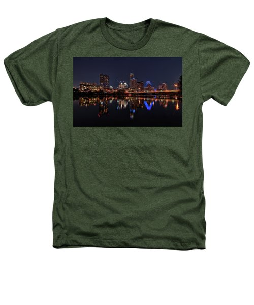 Austin Skyline At Night Heathers T-Shirt by Todd Aaron