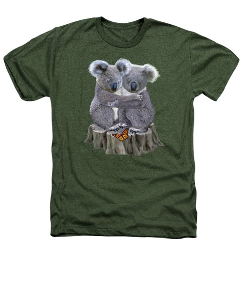 Baby Koala Huggies Heathers T-Shirt by Glenn Holbrook