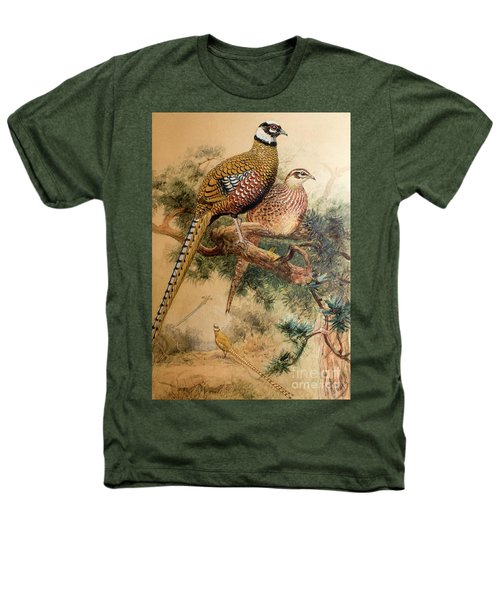 Bar-tailed Pheasant Heathers T-Shirt by Joseph Wolf