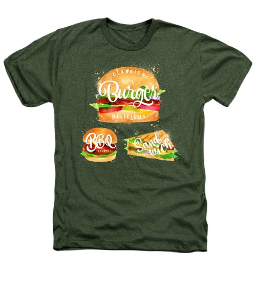 Black Burger Heathers T-Shirt by Aloke Creative Store