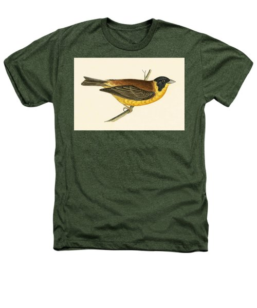Black Headed Bunting Heathers T-Shirt