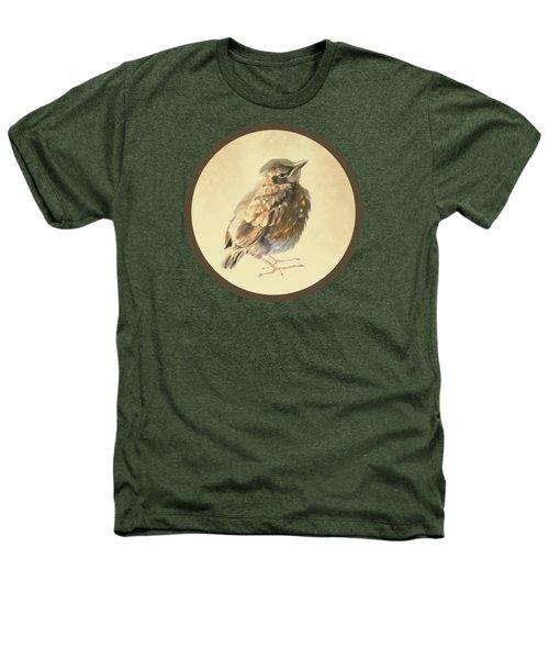 Blackbird Fledgeling Heathers T-Shirt by Bamalam  Photography
