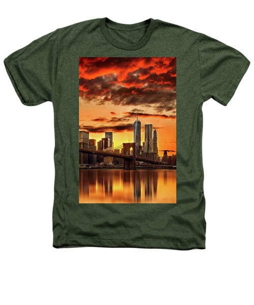 Blazing Manhattan Skyline Heathers T-Shirt