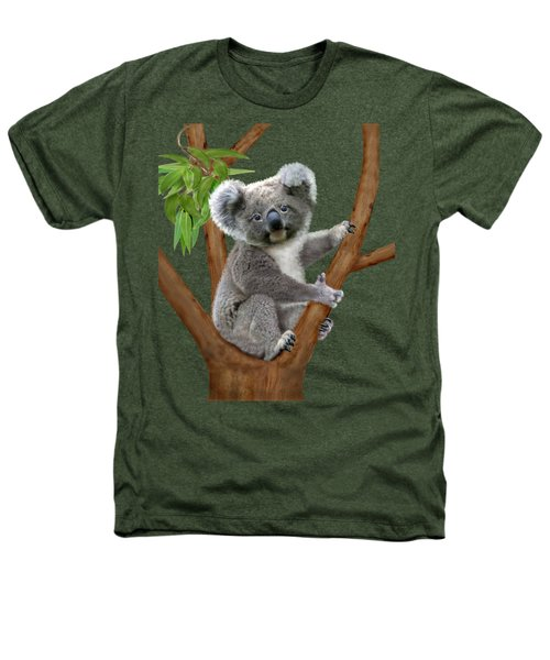 Blue-eyed Baby Koala Heathers T-Shirt by Glenn Holbrook