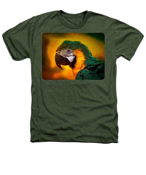 Blue Macaw Parrot Portrait Heathers T-Shirt