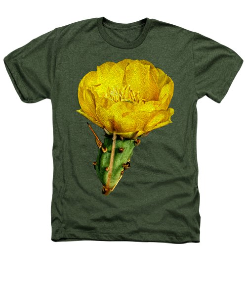 Cactus Flower Op26 Heathers T-Shirt by Mark Myhaver