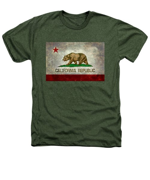 California Republic State Flag Retro Style Heathers T-Shirt by Bruce Stanfield