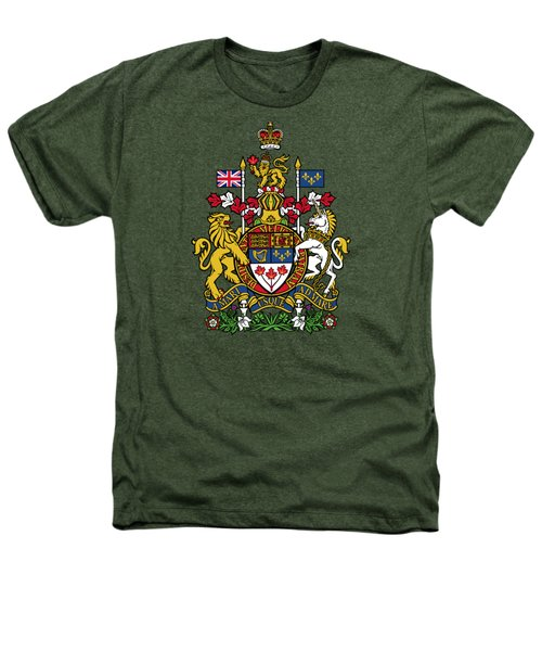 Canada Coat Of Arms Heathers T-Shirt by Movie Poster Prints
