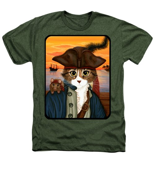 Captain Leo - Pirate Cat And Rat Heathers T-Shirt