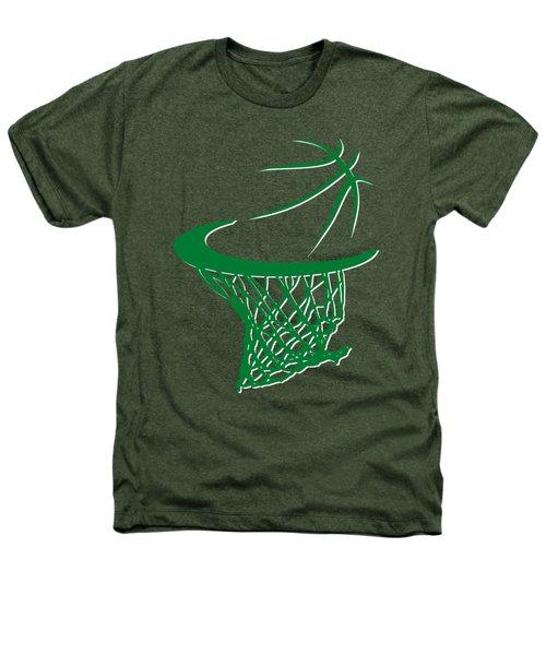 Celtics Basketball Hoop Heathers T-Shirt by Joe Hamilton