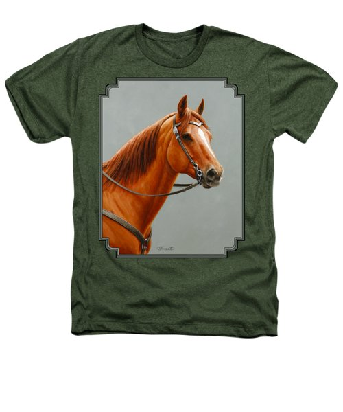 Chestnut Dun Horse Painting Heathers T-Shirt by Crista Forest