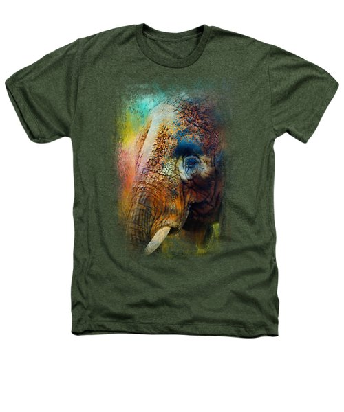 Colorful Expressions Elephant Heathers T-Shirt by Jai Johnson