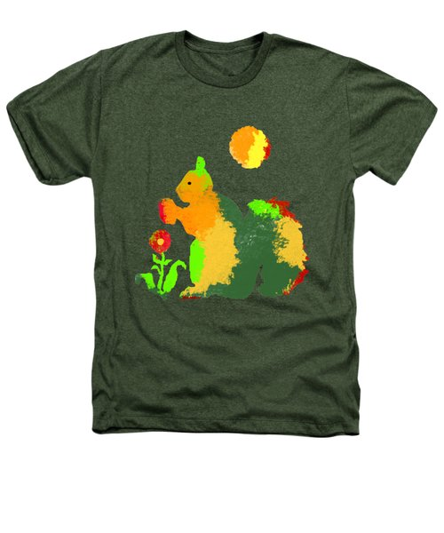 Colorful Squirrel 1 Heathers T-Shirt by Holly McGee