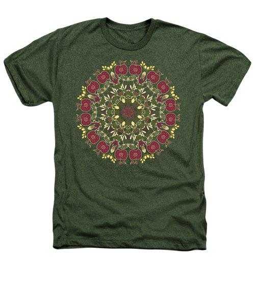 Country Apple Kaleidoscope Pattern Heathers T-Shirt