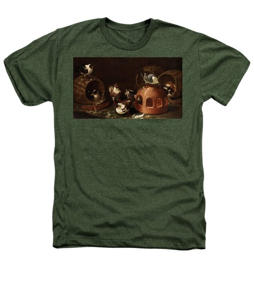 Deaf Between Feed Trough And Baskets Heathers T-Shirt