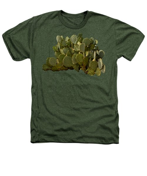 Desert Prickly-pear No6 Heathers T-Shirt by Mark Myhaver