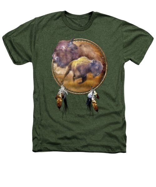 Dream Catcher - Spirit Of The Brown Buffalo Heathers T-Shirt