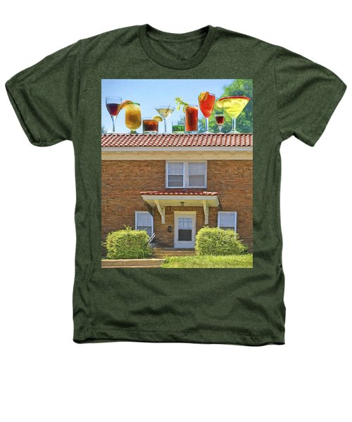 Drinks On The House Heathers T-Shirt by Nikolyn McDonald