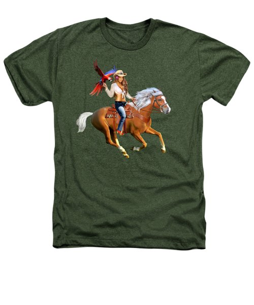Enchanted Jungle Rider Heathers T-Shirt by Glenn Holbrook