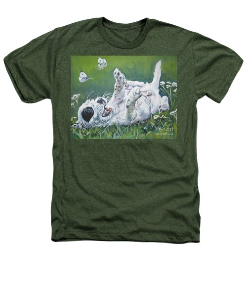 English Setter Puppy And Butterflies Heathers T-Shirt