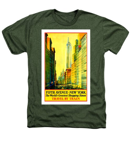 Fifth Avenue New York Travel By Train 1932 Frederick Mizen Heathers T-Shirt by Peter Gumaer Ogden Collection