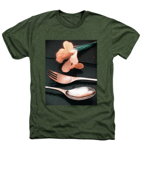 Flowers On Slate Variation 4 Heathers T-Shirt