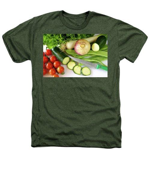 Fresh Vegetables Heathers T-Shirt by Carlos Caetano