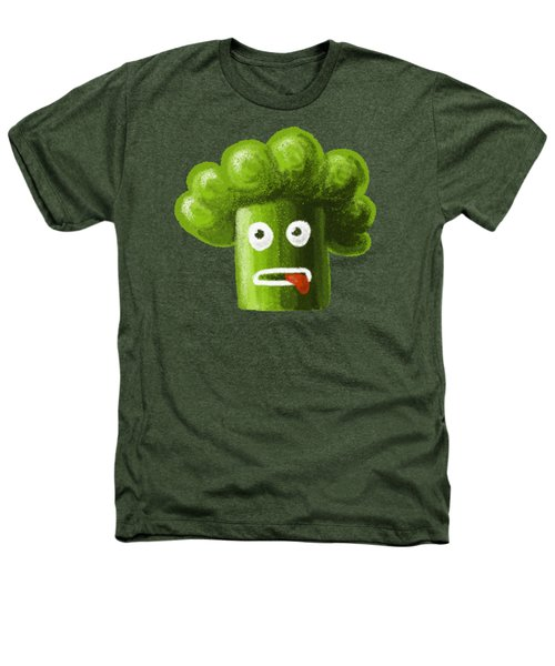 Funny Broccoli Heathers T-Shirt by Boriana Giormova