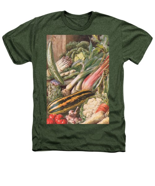 Garden Vegetables Heathers T-Shirt by Louis Fairfax Muckley
