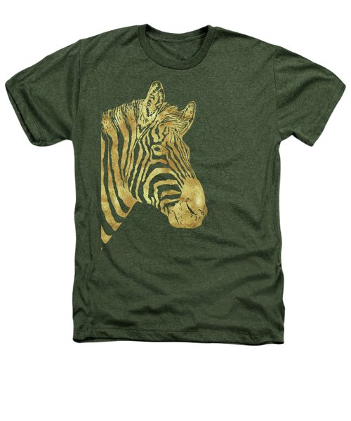 Gilt Zebra, African Wildlife, Wild Animal In Painted Gold Heathers T-Shirt by Tina Lavoie