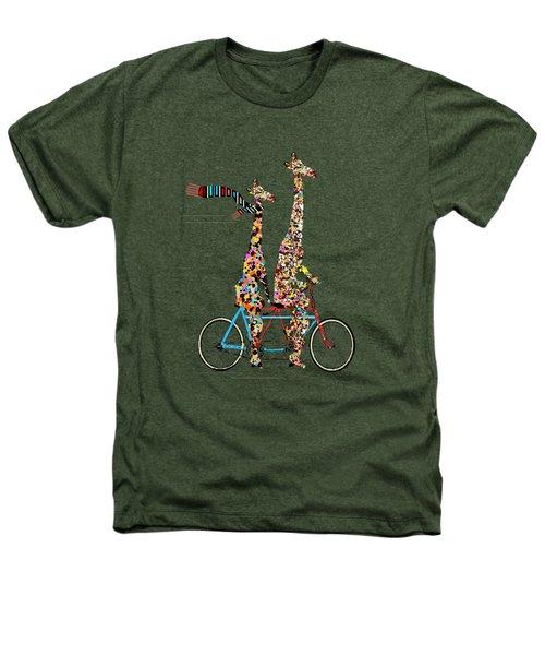 Giraffe Days Lets Tandem Heathers T-Shirt