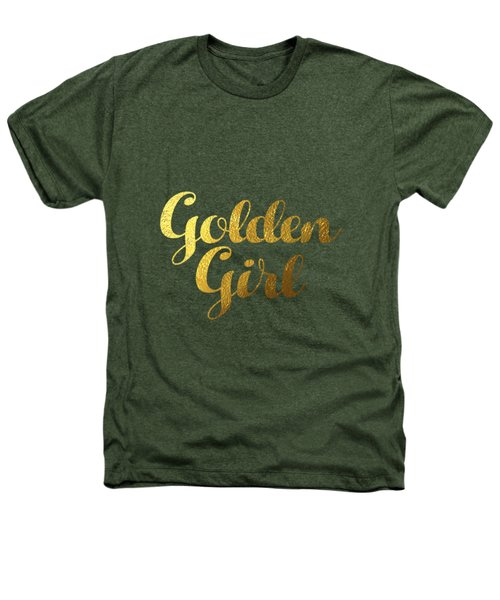 Golden Girl Typography Heathers T-Shirt by BONB Creative