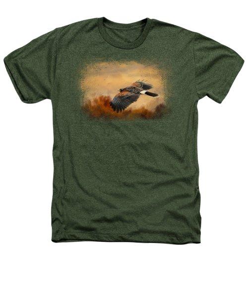 Harris Hawk In Autumn Heathers T-Shirt by Jai Johnson