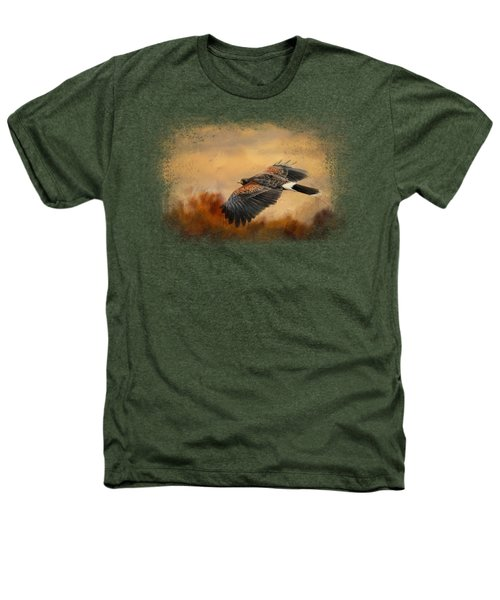 Harris Hawk In Autumn Heathers T-Shirt