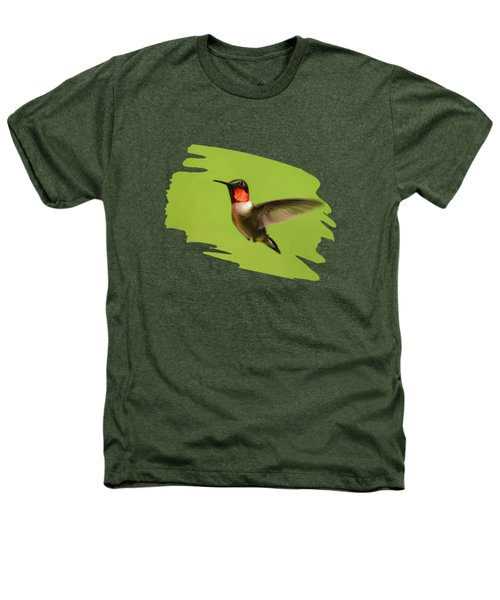 Hummingbird Defender Heathers T-Shirt by Christina Rollo